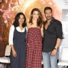 Surveen Chawla, Tannishtha Chatterjee and Ajay Devgn at Press meet of 'Parched'