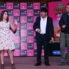 Sudesh Lahiri, Krushna Abhishek and Aditi Bhatia at Press meet of Comedy Nights Bachao
