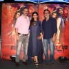 Raveena Tandon with Rakeysh Omprakash Mehra at Promotion of film 'Mirzya'