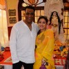 Anurag Basu with Sharbani Mukherjee attends Anurag Basu's Durga Pooja