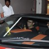 Sonu Nigam in his car at the Airport