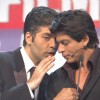 Karan Johar and Shah Rukh Khan at the Filmfare awards function