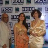Kareena Kapoor with Yash Chopra and Italian actress Anna Galiena at the opening ceremony of FICCI FRAMES 2007