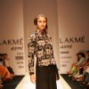 Sonam Dubal presents a global fashion travelogue on the ramp at Lakme Fashion Week in Mumbai on March 27
