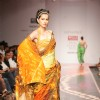 A model display the collection of Satya Paul at Lakme Fashion Week in Mumbai