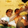Asha Bhosle at a Tata Tea promotional event in Mumbai