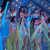 Contestants of the Gladrags Mega model contest 2007 performing on the swim suit during the Gladrags Mega Model and Manhunt Contest 2007 in mumbai on saturyday night