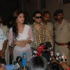 Shilpa Shetty at a press conference while shooting in Mumbai to clarify her stand on the Richard Gere kiss controversy