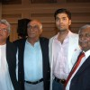 Javed,Karan Johar and Yash Chopra unveils new comfortable seats in the Jet Airways