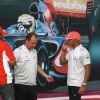 Formula One World Champion Lewis Hamilton Enthralled hundreds of his fans in Delhi by playing the Cricket, on a promotional tour for Vodafone Essar, in New Delhi on Saturday