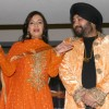 "Daler mehndi and Dia Mirza at a press-meet for the Film ""Kissan"" in New Delhi on Wednesday"
