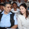 "Nagma and Jagdish Tytler at ""Cricket Match Organised"" by Bablu Aziz at Santacruz"