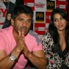 Bollywood actor Suniel Shetty and Sophie Chaudhry at a press meet for her film '''' Daddy Cool'''', in New Delhi on Tuesday