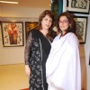 Dimple Kapadia at Bina Aziz art event at Juhu, in Mumbai