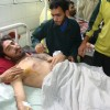 A person injured in the grenade attack in Srinagar Monday under treatment in hospital