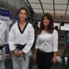 Bollywood actress Isha Koppikar doing Martial Arts with fitness-trainer Leena Mogre