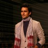 "Model presenting creations of Designer Rajesh Pratap Singh at the Van Heusen ""India Mens Week"" in New Delhi on Sunday"