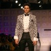 "Model presenting creations of Designer Ashish n Soni at the Van Heusen ""India Mens Week"" in New Delhi on Sunday"