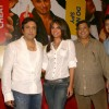 Director David Dhawan and Producer Vashu Bhagnani with Actors Govinda, Lara Dutta and Ritesh Deshmukh at a press meet for the film
