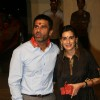 Sunil Shetty and his wife Mana at Mata Ki Chowki at Bandra