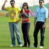 "Bollywood Actor Aftab Shivdasani, Neetu Chandra and Dino Morea during the Initiative ""India First"" to Unite Nation Campaign at Ambedkar Stadium in New Delhi on Tuesday"