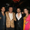 "Dino Morea, Anu Malik, Aftab Shivdasani and Farah Khan at ""Acid Factory Team on the Sets of Entertainmet Ke Liye Kuch Bhi Karega"""