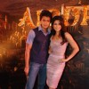 "Bollywood actor Riteish Deshmukh and newcomer Jacqueline Fernandez at the music launch of a new film ""Alladin"""
