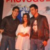 "Bollywood actor Ranbir Kapoor and Konkana Sen at their upcoming movie ""Wake up Sid"" press meet at Inorbit Mall in Mumbai"