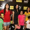 Mini Mathur, Aditi Govitrikar and Maria Goretti with kids at Puma Gina Gony wear launch at Oberoi Mall in Mumbai