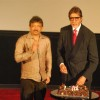 Ram Gopal Varma and Amitabh Bachchan at Rann''s first look at PVR