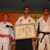Akshay Kumar honoured with a Katana and a sixth degree Black Belt in Kuyukai Gojuryu Karate in Novotel