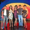 All the Best team Mugdha Godse, Ajay Devgan and Bipasha Basu, at MTV relaunch meet in Taj Land''s End
