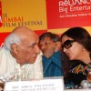 Yash Chopra, Amol Palekar and Shabana Aazmi at Mami Film festival press meet in Sun N Sand Hotel