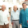 Yash Chopra and Amol Palekar at Mami Film festival press meet in Sun N Sand Hotel