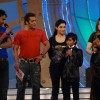 Ajay Devgan, Salman Khan, Asin and Alka Yagnik on the sets of Sa Re Ga Ma Little Champs Grand Finale
