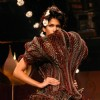 A model showcasing designer Rohit Bal''s grand finale at the Wills Lifestyle India Fashion Week in New Delhi on Wednesday night 28 Oct 2009