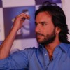 Bollywood Actor Saif Ali Khan poses for the photographers during the launch of ''New Head N Shoulders Scalp Massage Cream'' in Mumbai on Thursday, 29 October 2009