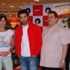 "Katrina Kaif, Ranbir Kapoor and producer Ramesh Taurani promote their film ""Ajab Prem ki Gazab Kahani"" at Reliance Trends"