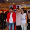 "Ranbir Kapoor, producer Ramesh Taurani and Katrina Kaif promote their film ""Ajab Prem ki Gazab Kahani"" at Reliance Trends"