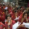Jain devotees at a rally for their festival in Kolkata on Monday 2nd Nov 09