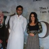"Abhishek Bachchan and Vidya Balan unveiled the first look of movie ""Paa"" at a media conference held in Mumbai"