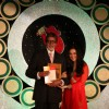 Bollywood actors Amitabh Bachchan and Preity Zinta on the red carpet at MAMI awards closing night ceremony