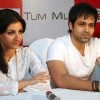 Soha Ali Khan and Imran Hasmi in the press meet of their new film ''Tum Mile'' in a city multiplex in Kolkata on Friday