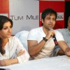 Soha Ali Khan, Imran Hasmi and Mahesh Bhatt in the press meet of their new film ''Tum Mile'' in a city multiplex in Kolkata on Friday