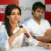 Soha Ali Khan and Imran Hasmi in the press meet of their new film ''''Tum Mile'''' in a city multiplex in Kolkata on Friday