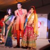 Models walk on ramp at the Luxurion show at Grand Hyatt
