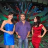 Himesh and Shenaz Treasurywala at the sets of Comedy Circus at Mohan Studio