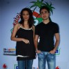 Bollywood actors Diana Hayden and Imran Khan posing for photographers in Mumbai