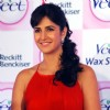 "Bollywood actress Katrina Kaif at the launch of ""Veet Ready-to-Use Wax Strip"" in New Delhi on Thrusday"