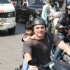 Sohail Khan with his son at Harley Davidson rally at VT to Bandra